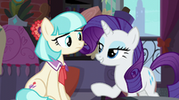 Rarity offers to help Coco with the costumes S5E16