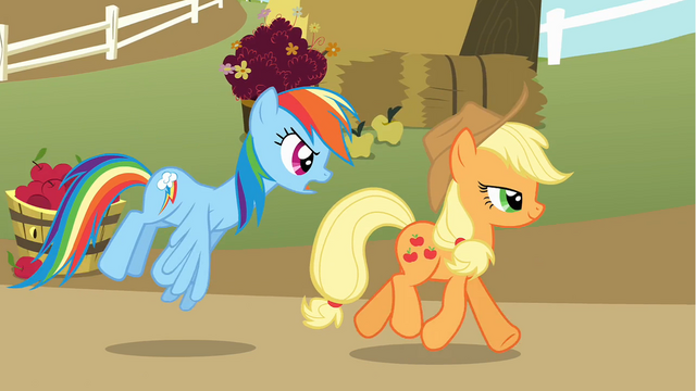 File:Applejack and Rainbow Dash S01E13.png
