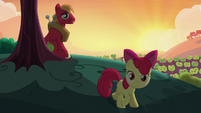 Big Mac saying Apple Bloom's name S5E17