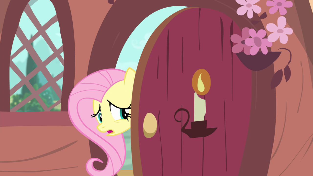 Image fluttershy at the door my little pony for My little magic door