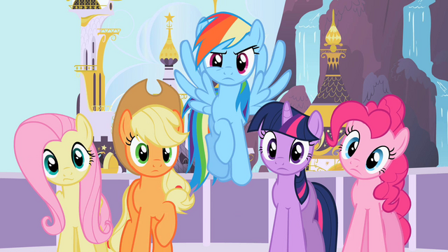 File:Main 5 staring at Rarity S2E9.png