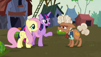 Twilight and Fluttershy meet Ma Hooffield S5E23