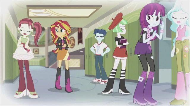 File:Canterlot High students scorning Sunset 2 EG2.png