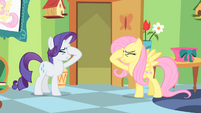 "Fluttershy and Rarity ""stick a cupcake in my eye"" S01E20"