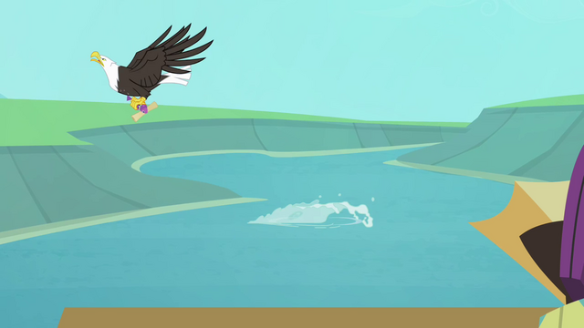 File:Eagle snatching fish with map S4E09.png
