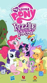 My Little Pony Puzzle Party title screen
