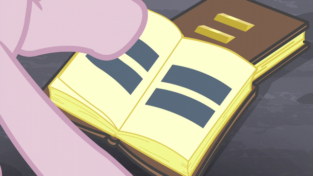 File:Pinkie flipping through book pages with equal signs S5E02.png