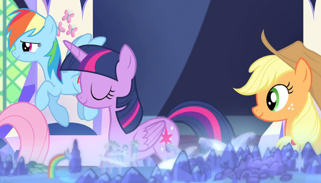 File:Twilight and friends leaving the throne room S5E1.png