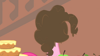 Pinkie Pie's face covered in chocolate S1E22