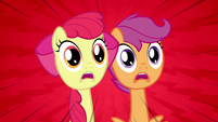 Scootaloo and Apple Bloom 'No!' S3E4