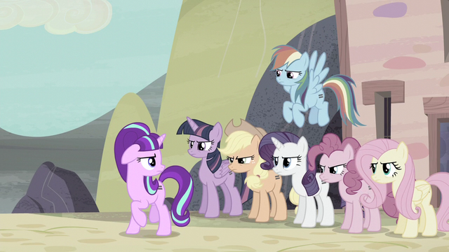 File:Mane Six standing behind Starlight S5E2.png