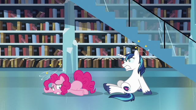 File:Pinkie Pie and Shining Armor feeling dizzy S6E2.png