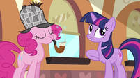 Pinkie Pie blowing bubbles S2E24