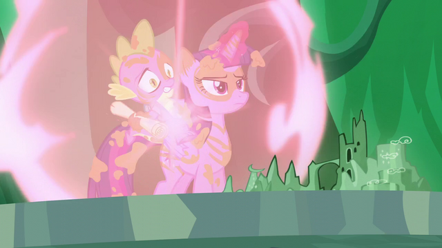 File:Twilight and Spike teleports at the map S5E26.png