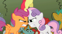 Apple Bloom about to step on their heads S2E01