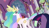 Celestia giving Twilight's punishment for failure S3E2