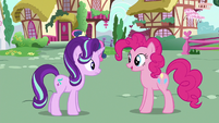 Pinkie Changeling greeting Starlight Glimmer S6E25