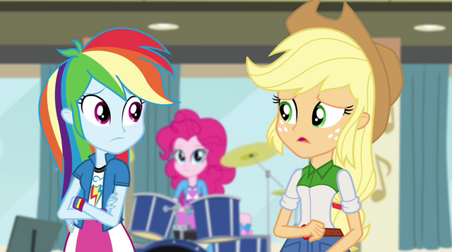 File:Rainbow and Applejack have their doubts EG2.png
