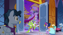 Rarity bursts into the ballroom S5E7