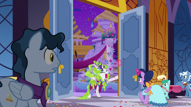 File:Rarity bursts into the ballroom S5E7.png