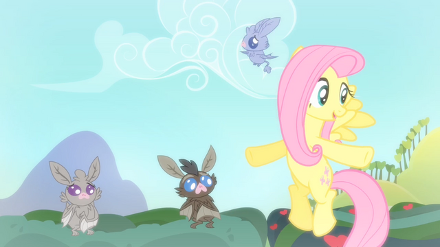 File:Baby bat flying around Fluttershy S4E07.png