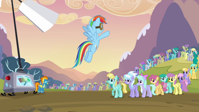File:Rainbow Dash ordering the pegasi S2E22.png