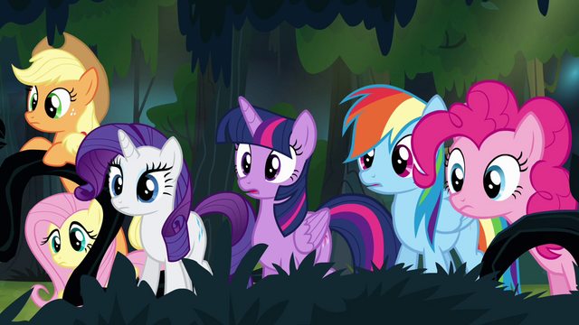 File:Main ponies find A.K. Yearling's house S4E04.png