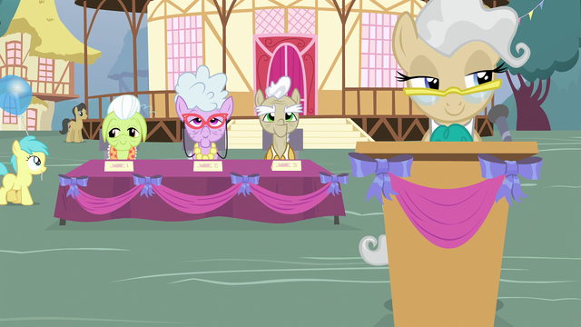 File:The selection committee behind Mayor Mare S4E13.png
