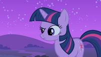 Twilight raises an eyebrow S1E24