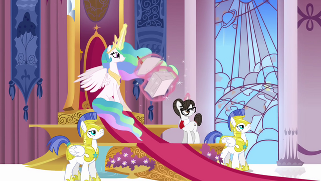 File:Celestia and the guards hear something S3E01.png