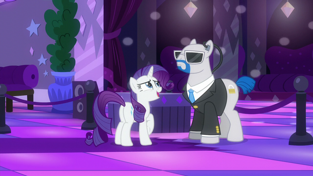 """File:Rarity """"Could you please ask her to turn it down?"""" S6E9.png"""