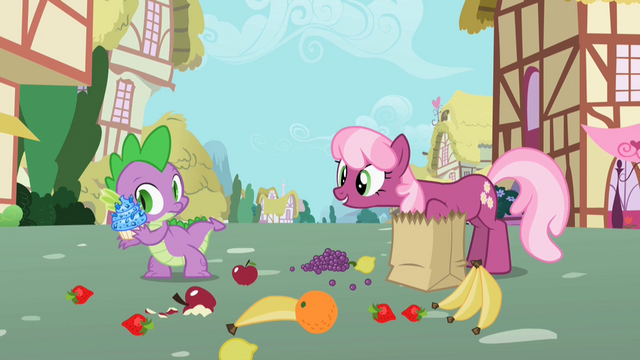File:Cheerilee talking to Spike S2E10.png