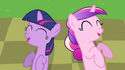 Princess Cadance & young Twilight laughing S2E25