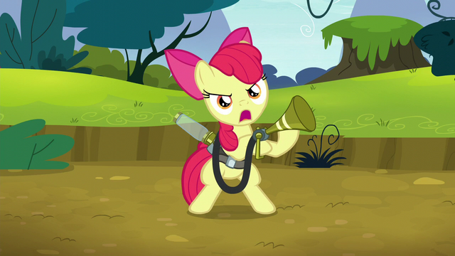 File:Apple Bloom calls out to twittermites S5E4.png