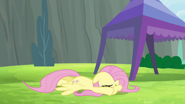 File:Fluttershy cowers down S4E10.png