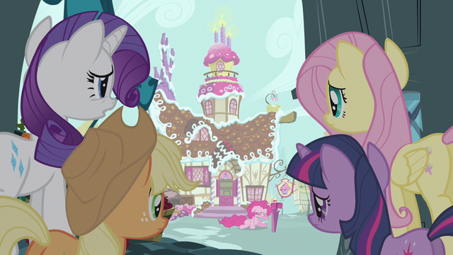 File:Rarity & Fluttershy checking on Pinkie Pie S3E7.png