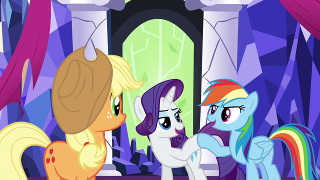 File:Rarity and Rainbow Dash hoof-bump S5E3.png