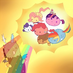 File:FANMADE Chibi ponies defeating Discord.jpg