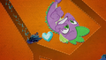 Spike and Crystal Heart fall toward King Sombra BFHHS5.png
