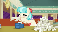 Coco Pommel blowing her nose S6E9