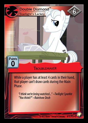 File:Double Diamond, Starlight's Lackey card MLP CCG.jpg