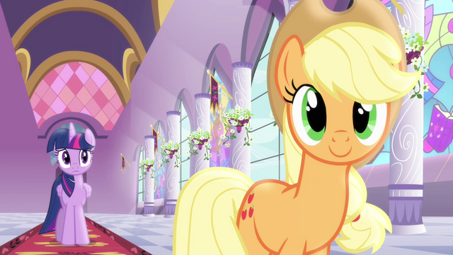 File:Applejack describing things she will do in Ponyville S4E01.png