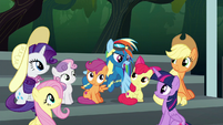 "Rainbow Dash ""can I borrow Scootaloo?"" S6E7"