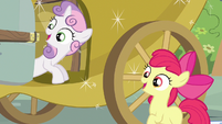Sweetie Belle & Apple Bloom happy expressions S3E4