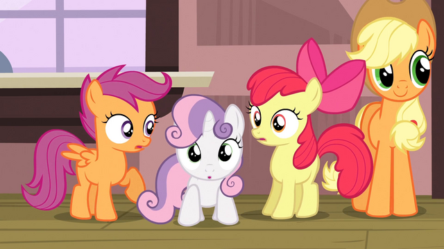 File:CMC and Applejack hear train arriving S3E4.png