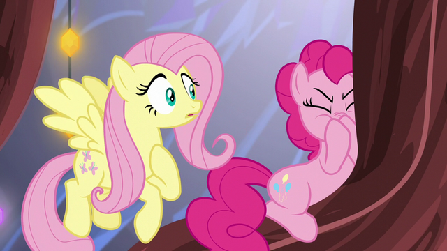 File:Pinkie Pie turns away from Fluttershy S5E19.png