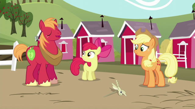 "File:Big Mac responds ""Eeyup!"" to Apple Bloom's question S5E17.png"