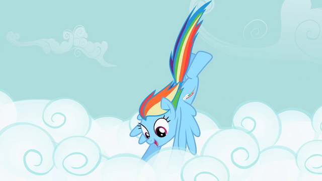 File:Rainbow Dash diving into the clouds S2E08.png