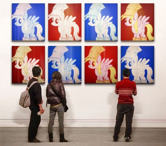 File:FANMADE Derpy hooves in art gallery.jpg