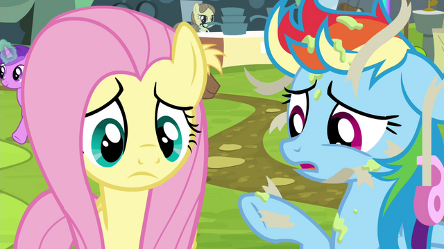 File:Rainbow Dash covered in glue and tape S4E22.png